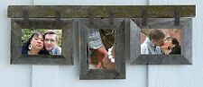 "Barn Wood  Conestoga Mixed Barnwood Collage Picture Frame For (3) 5"" x 7"" Photos"
