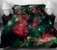 3D Bedding Set Twin Full Queen Size Galaxy Duvet Cover Set with 2 Pillowcases