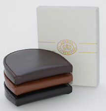 Real Quality Leather Mens Women Small Pocket Coin Tray Purse Wallet +Gift Box