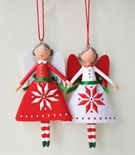 Gisela Graham Scandi Snowflake Christmas Fairy Angel Tree Decoration