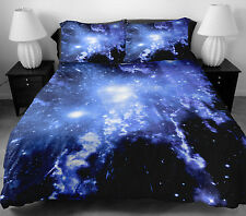 Blue Galaxy Bedding Set Double Full Twin Quilt Cover Quilt Sheet 2 Pillow Cases
