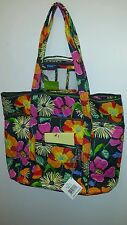 NWT Vera Bradley VERA Tote and Clear Cosmetic- JAZZY BLOOMS!!