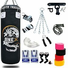 New 13Piece 3ft heavy Filled Boxing Punch Bag Set,Gloves,Braket,Chains MMA