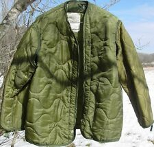 US Army Military M-65 Field Jacket Quilted OD Olive Drab Green GI Coat Liner