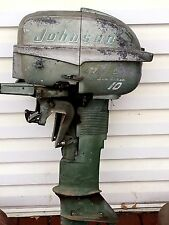 RARE Vintage Johnson Sea Horse 10,10 HP Outboard Motor Boat Engine Out Board