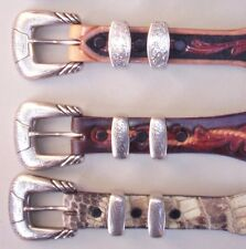 """Lucchese Classics Hand Made Exotic Skin Belts, """"Ranger Style"""", Sizes 38 & 40"""