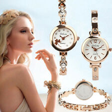 Fashion Women Watch Stainless Steel Quartz Rhinestone Bracelet Girls Wrist Watch