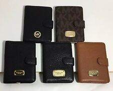 NWT MICHAEL KORS Leather Passport Case Wallet Holders Different Colors