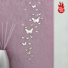 30PC Butterfly Combination 3D Mirror Wall Sticker Home Decoration DIY Wall Decal