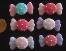 Candy Colorful Candy Heart Flatback Resin Cabochons  Hair Bow Centers Phone
