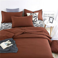 Brown Single Queen King Bed Linen Pillowcase Quilt Duvet Cover Zebra Ouk