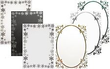 A5 Christmas Foiled Card Blanks & Envelopes (snowflakes or holly) colour options