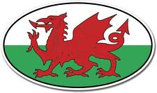 Wales UK Oval Euro Flag Car Bumper Window Wall Vinyl Sticker Decal