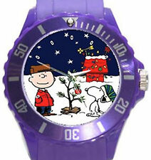 Charlie Brown Christmas Round Plastic Sport Watch Unisex-8 Funky Colors