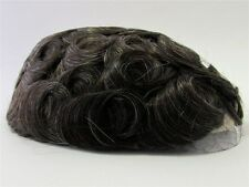 Men's Hairpiece Toupee Coffee / Dark Brown + A Little Gray 100% Human Hair 310