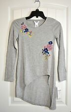 NWT GIRLS YOUTH GUESS KIDS LONG SLEEVE GRAY HI LO SHIRT DRESS TUNIC TOP SZ L(14)