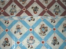 NEW Japanese Raggedy Ann & Andy Vinyl Covered Cotton Fabric by the Yard  Lecien