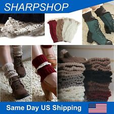 Leg Warmers Cable Knitted Boot Cuffs Womens Lace Crochet Boot Socks Cuffs Topper