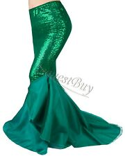 Sexy Mermaid Ladies Christmas Costume Fancy Party Sequins Maxi Dress Tail Skirt