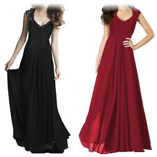 Women Lace Maxi Long Evening Prom Gown Formal Bridesmaid Cocktail Party Dress