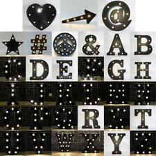 12inch Black Alphabet Letter Carnival Outdoor Home Party Decor Light Sign A - Z