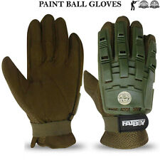 Paintball Gloves Hunting Airsoft Tactical Armoured Protection Full Finger Gloves