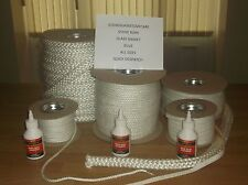 Stove Rope And Glue Glass Gasket Door Seal Kit With Or Without 100 ML Large Glue