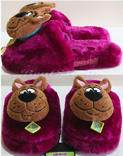 NEW Warner Bros. Scooby Doo Great Dane Dog Purple Adult plush OPEN Slippers S-XL