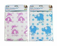 FIRST STEPS BABY CHANGING MAT 67CM X 47CM PINK BLUE NAPPY MAT FOLDING TRAVEL