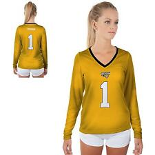 Towson University Tigers Womens Long Sleeve V-Neck Shirt Jersey  Design