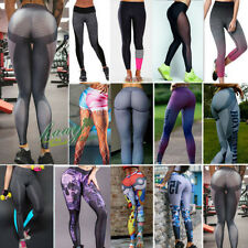 Womens Yoga Fitness Leggings Athletic Stretched Sports Pants Trousers Clothes