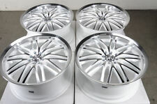 18 4x114.3 4x100 White Wheels Fits Jetta Golf MR2 Cabrio Civic Accord 4 Lug Rims