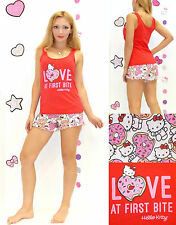 NWT Sanrio Hello Kitty 'LOVE at First Bite' cookies print Pajama Set S,M,L,XL
