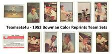 1953 Bowman Color Reprints Baseball Team Sets ** Pick Your Team Set **