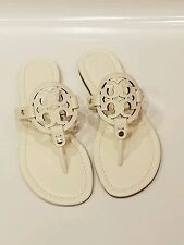 Tory burch miller bleach white leather sandal nib