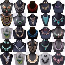 Hot Fashion Jewelry Pendant Chain Choker Crystal Bib Statement Necklace Flower