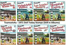 1971 Dell Today Stamps (in Album) Baseball Team Sets ** Pick Your Team Set **
