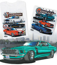 Ford Mustang Race Bred True Horses T-Shirt GT 350 500 Boss 302 429 Shelby