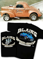 Blair's Speed Shop T-Shirt 1940 1941 Willys Gasser Vintage Lion's Dragstrip