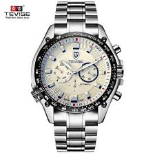 Luxury Men's Self-Winding Mechanical Watches Date Sport 3 Sub-Dials Watch I3Y3