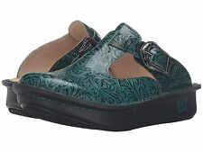 Alegria Women's Classic Teal Tooled Casual Leather Shoes ALG-425