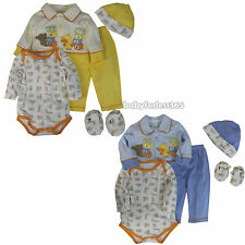 Nanette 5 Pieces Lot Baby Boys Gift Sets Clothes Outfits Size 0 3 6 9 months