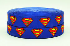 "7/8"" Superman Grosgrain Ribbon- DC comics"