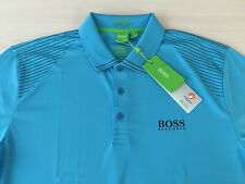 "Men's Hugo Boss Green label Polo Shirt ""GR-Paddy Pro 2"",COLOR BLUE ,Size-XL."