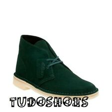 NEW CLARKS OF ENGLAND ORIGINAL EXCLUSIVE DARK GREEN SUEDE DESERT BOOT 18558