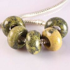 Wholesale Yellow Howlite Turquoise Gemstone Loose Beads Fit EP Charms Bracelet