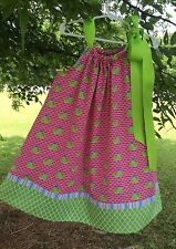 PINK WHALES/ LIME PILLOWCASE DRESS KIT WITH OPTIONAL PATTERN
