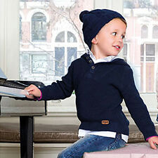 NWT Mayoral Boys' Knit Hooded Two-Fer Sweater  ~ Size 4-8