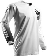 NEW THOR RACING PULSE WHITEOUT WHITE MX ATV MOTOCROSS MENS ADULT JERSEY