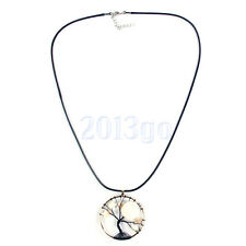 """Tree Moon Star Pendant Moonstone Necklace Wire Wrapped Necklace 24"""" HW"""